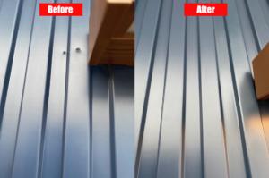 ガルバリウム鋼板のビス穴補修